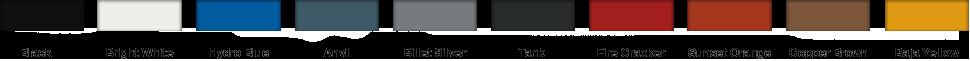 Фирменные цвета Jeep Wrangler