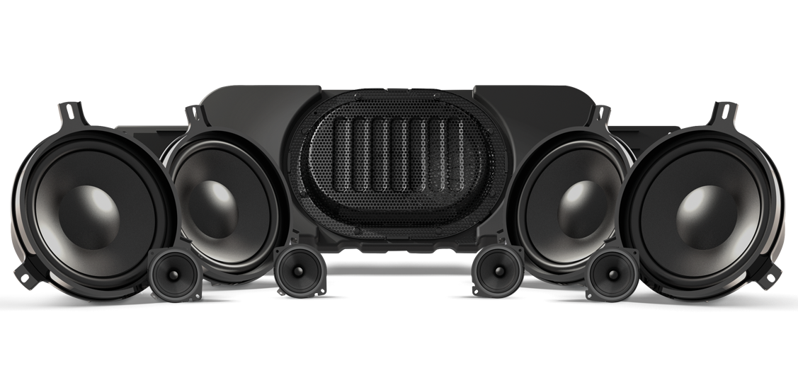 Alpine premium sound system interior