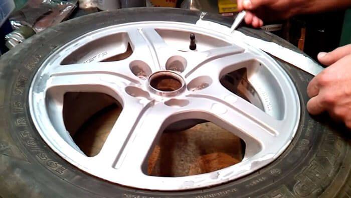 Подготовка к покраске дисков на авто