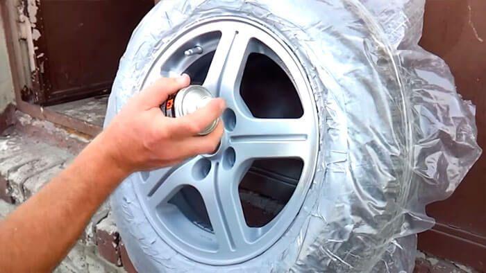 Покраска диска на авто