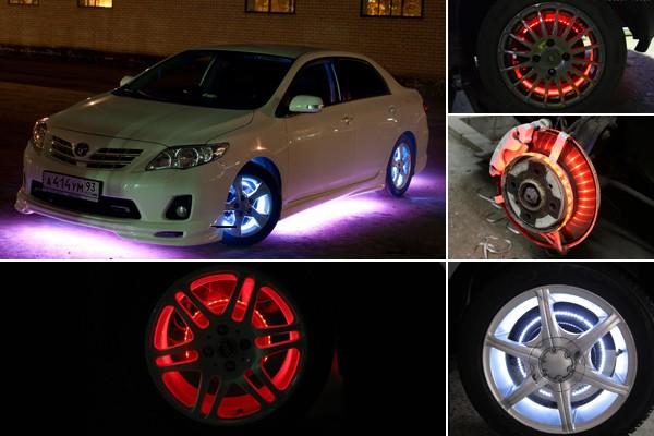 подсветка колес своими руками авто