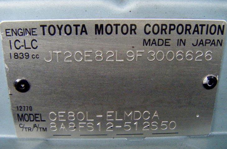 Расшифровка ВИН-кода автомобиля